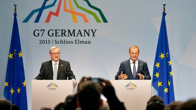 Summit G7 v Německu, Jean-Claude Juncker a Donald Tusk