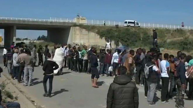"Tábor ""džungle"" v Calais"