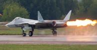Suchoj T-50, je dvoumotorový stíhací letoun 5. generace, vyvinutý konstrukční kanceláří Suchoj pro ruské letectvo. Autor: Rulexip