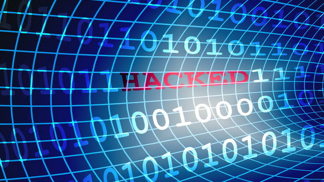 Útok hackera, ilustrační fotografie