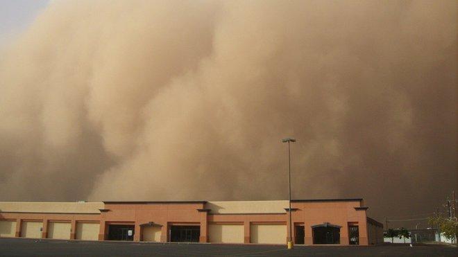 Písečná bouře, ilustrační foto