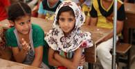 Irácké děti v provizorní škole UNICEF, ilustrační fotografie