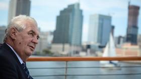 Miloš Zeman v New Yorku
