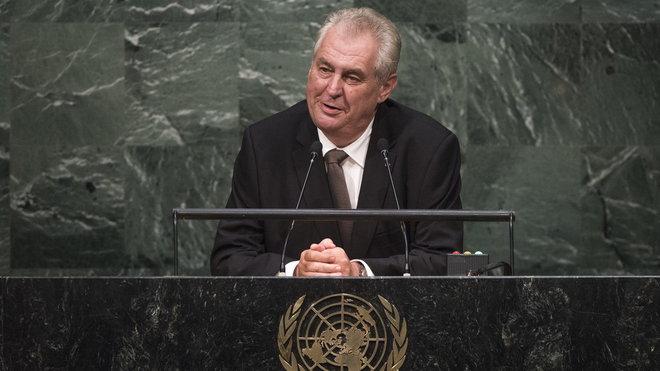 Miloš Zeman promlouvá v OSN