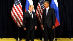 Podivné pohledy Vladimira Putina a Baracka Obamy