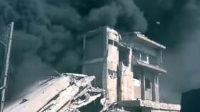 Bombardování pozic ISIS a rebelů v Sýrii