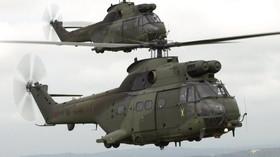 Ilustrační foto, vrtulníky typu Puma Mk 2 královské letky RAF