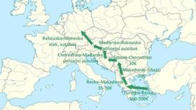 Nejčastější trasy, kterými proudí uprchlíci do Evropy, včetně výdajů (Autor: Tomáš Zdechovský /KDU-ČSL/)