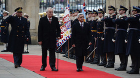 Serž Sargsjan na návštěvě České republiky