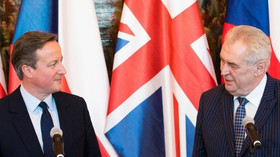 Britský premiér David Cameron na návštěvě v Praze