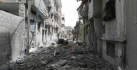 Tragédie v syrské Ghútě. Bombardování tam ničí celé rodiny - anotační foto