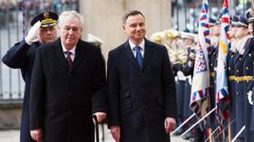 Andrzej Duda na návštěvě Prahy (15. března 2016).