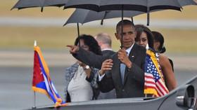 Americký prezident Obama přiletěl na historickou návštěvu Kuby (21.3.2016)