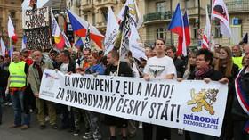 Národní demokracie na prvomájovém pochodu Prahou demonstrovala proti vládě
