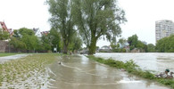 Týn nad Vltavou zasáhla blesková povodeň - anotační obrázek