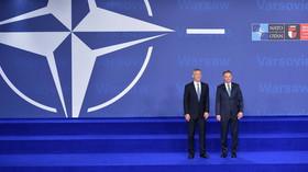 Summit NATO ve Varšavě (8. - 9. 7. 2016): Jens Stoltenberg a Andrzej Duda