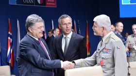 Summit NATO ve Varšavě (8. - 9. 7. 2016): Andrzej Duda, Jens Stoltenberg a Petr Pavel