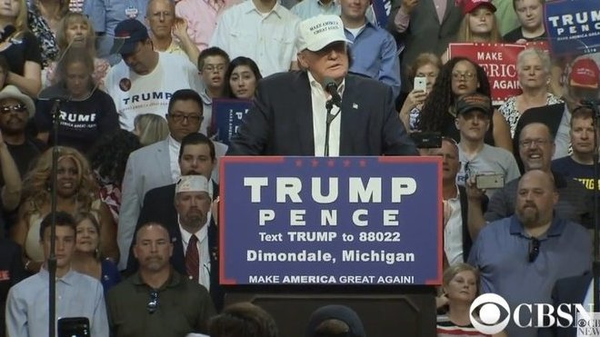Donald Trump láká voliče