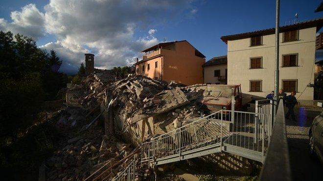 Itálii postihlo zemětřesení o síle 6,2 stupně