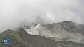 Erupce sopky Turrialba v Kostarice