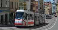 Brno, tramvajová doprava v ulici Pekařská