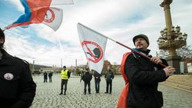 Demonstrace proti uprchlíkům na Náměstí Jana Palacha (17. 11. 2016)