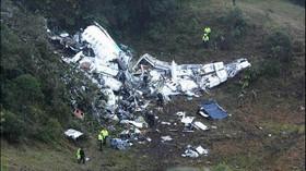Havárie letadla s fotbalisty v Kolumbii. 75 mrtvých, 6 zraněných