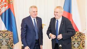 Do Prahy zavítal srbský prezident Tomislav Nikolić, sešel se s Milošem Zemanem