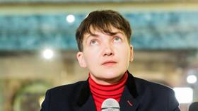 Naděžda Savčenková navštívila Prahu (12. ledna 2017)