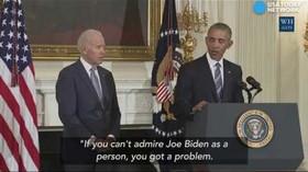 Obama nečekaně udělil Bidenovi prestižní medaili