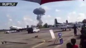 Na letecké přehlídce v Thajsku se zřítila stíhačka