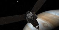 Vesmírná sonda NASA Juno se blíží k planetě Jupiter.