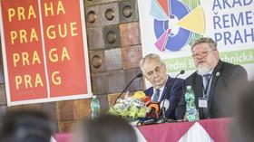 Miloš Zeman zahájil na Akademii řemesel Praha školní rok