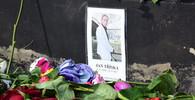 Místo, kde odkud spadl herec Jan Tříska (23.9.2017).