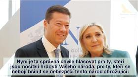 Le Penová podpořila Okamuru