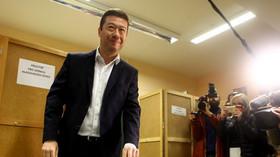 Tomio Okamura hlasuje ve volbách