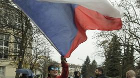 Češi si připomínají 17. listopad na Národní třídě