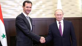 Bašár Asad se sešel s Vladimirem Putinem (21.11.2017).