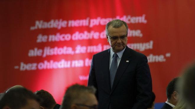 Miroslav Kalousek na sněmu TOP 09 (25.11.2017).