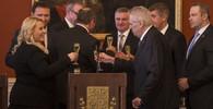 OBRAZEM: Prezident Zeman dnes jmenoval vládu Andreje Babiše - anotační obrázek