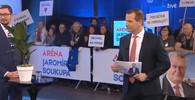 2. ledna byl ve studiu kromě Jiřího Ovčáčka také prezidentský kandidát Michal Horáček a mluvčí bývalého prezidenta Klause Petr Hájek, který všechny kandidáty s výjimkou Miloše Zemana odepsal.