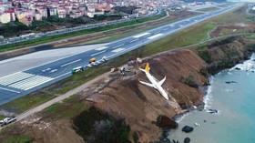 Havarovaný Boeing 737-800 tureckých nízkonákladových aerolinek Pegasus Airlines