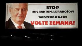 Miloš Zeman a jeho billboard proti Drahošovi