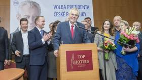 Zemanovo vítězství ve volbě prezidenta 2018