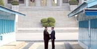 Mun Če-in a Kim Čong-un se nečekaně setkali - anotační obrázek
