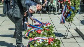 Politici a další lidé oslavili na Vítkově výročí konce války (8. května 2018)