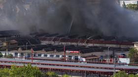 Požár haly v pražské Hostivaři