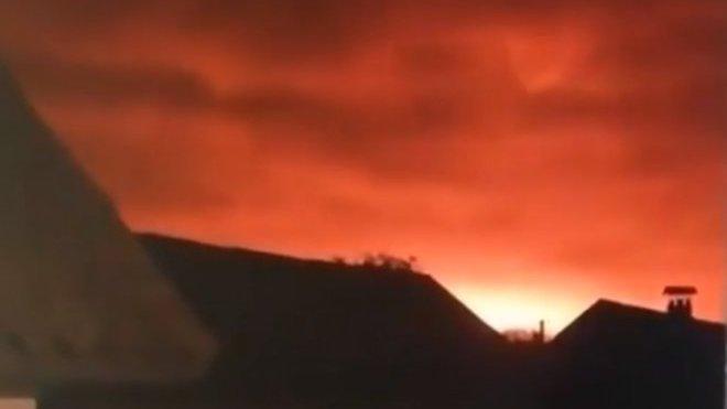 výbuch muničního skladu na Ukrajině (9.10.2018)