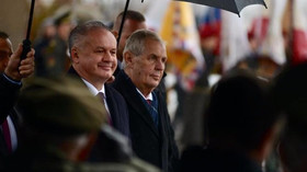 Miloš Zeman a Andrej Kiska slavili výročí založení Československa