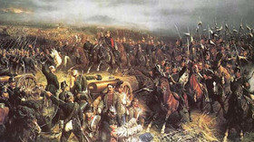bitva u Hradce Králové - Christian Sell: Schlacht bei Königgrätz (Gemälde von 1872)